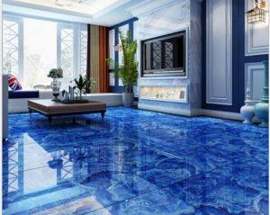 metallic floor living room