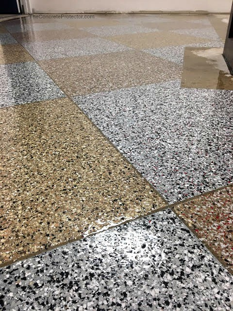 abstract chip epoxy floor