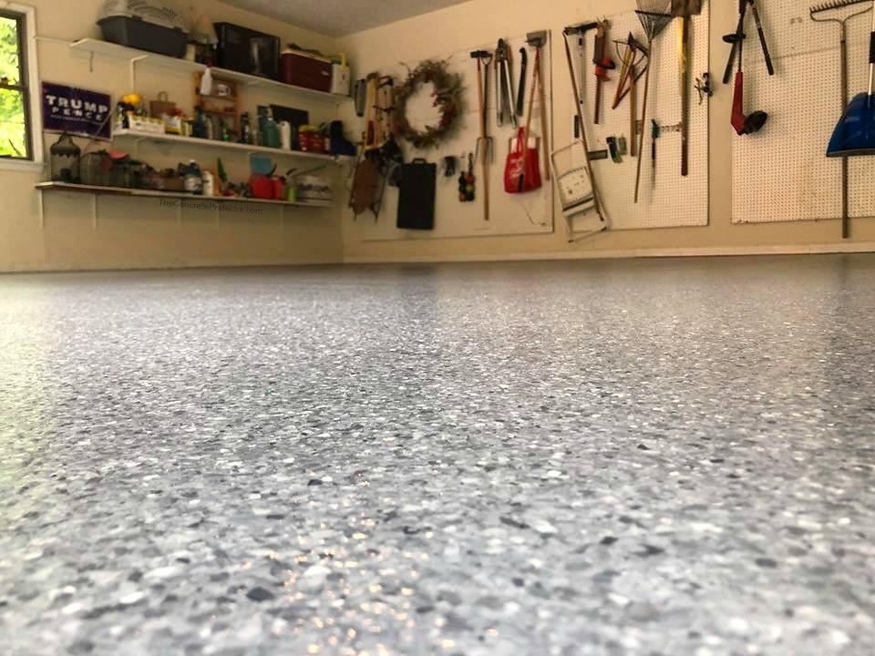 garage chip epoxy flooring