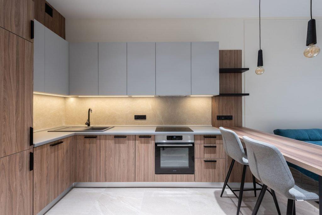 industrial kitchen with epoxy floor